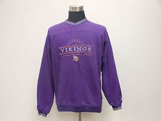 Vtg Pro Player Minnesota Vikings Crewneck Sweatshirt sz L Large Peterson SEWN Vintage by TCPKickz on Etsy