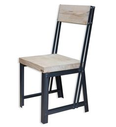 KONK INDUSTRIAL Style Oak/Steel Dining Chair por KONKfurniture