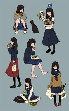 いっぱい食べる女子高生