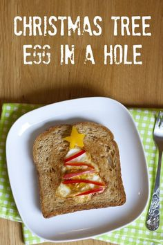 Egg in a Hole...Christmas-style! from www.mylittlegourmet.com