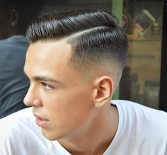 Slick- virogas.barber slicked short mens haircut side part combover 2017 new