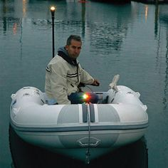 RAILBLAZA USA provides total lighting solutions for kayaks, boats and dinghies with the Visibility Kit II and NaviPack. Both navigation lights improve Small Fishing Boats, Small Boats, Shallow Water Boats, Marine Shop, Sports Nautiques, Offshore Fishing, Marine Environment, Diy Boat