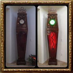 Haunted Mansion inspired clock