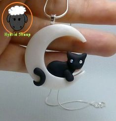 Cat Moon Necklace by Hybrid-Sheep.deviantart.com on @deviantART: