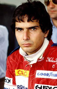 Nelson Piquet e a habitual cara de bom humor.