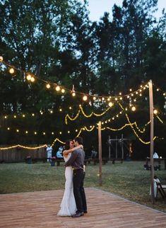 Ideas for backyard wedding ceremony ideas yards Wedding Reception On A Budget, Wedding Reception Lighting, Backyard Wedding Lighting, Wedding Events, Wedding Planning, Wedding Backyard, Wedding Ideas, Diy Wedding, Reception Ideas