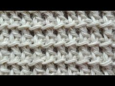 The Tunisian Ocean Stitch Tunisian Crochet Stitch 12 Right Handed, related videos and comments Tunisian Crochet Patterns, Crochet Motifs, Crochet Yarn, Crochet Hooks, Knitting Patterns, Crochet Simple, Crochet Videos, Knitting Stitches, Stitch Patterns