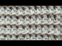 """Начинаем вязать – Видео уроки вязания » """"Сеточка с обратными накидами"""" – Тунисское вязание – Узор №14"""