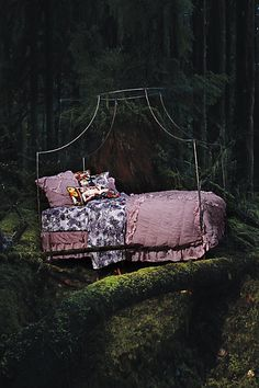 Italian Campaign Canopy Bed: Anthropologie