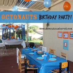 Octonauts Birthday Party: including links to printables and tips to make your own!
