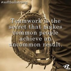 Baseball is loved by many.The things that this article is going to cover will help players at any level in improving their game. If you manage a baseball team, keep players happy and excited to help better their odds of winning. Team Quotes, Softball Quotes, Softball Players, Girls Softball, Fastpitch Softball, Sport Quotes, Softball Stuff, Baseball Stuff, Baseball Motivational Quotes