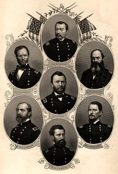Union generals of the American Civil War - descended from ancestors who fought on both sides in the Civil War. Description from pinterest.com. I searched for this on bing.com/images