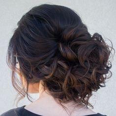 ~ we ❤ this! moncheribridals.com #curlyweddingupdo