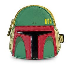 Loungefly x Star Wars Boba Fett Green/Red Faux Leather Face Coin Bag
