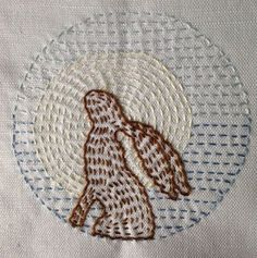 Lovely running stitch embroidery