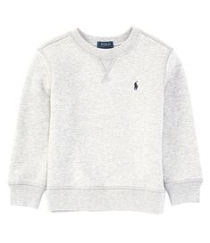 Polo Ralph Lauren Childrenswear Little Boys Long-Sleeve Fleece Pullover Sweater Light Grey Heather 6 - Pullovers Sweater - Ideas of Pullovers Sweater Polo Outfit, Polo Ralph Lauren Kids, Fall Fashion Trends, Black Blazers, Pullover Sweaters, Kids Outfits, Leggings, Sweatshirts, Brother Quotes