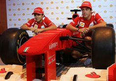 Alonso and Massage with F1 car Singapore 2012
