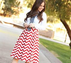This site has such beautiful skirts!! // The Chevron Skirt:: Lipstick   Corilynn I want this skirt!
