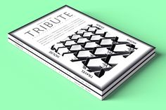 TRIBUTE Magazine by Sérgio Miguel, via Behance