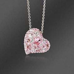"""""""I purchased this Swarovski multi-pink crystal heart for my sister. She was diagnosed with cancer this year. She loves all things pink and also, nothing brings her joy like receiving a piece of jew… Swarovski Pendant, Swarovski Jewelry, Crystal Jewelry, Swarovski Crystals, Crystal Pendant, Swarovski Bracelet, Gold Pendant, Pink Jewelry, Heart Jewelry"""
