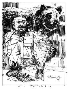 jimharrisonsketch Jim Harrison, Tommy Lee, Legends, Illustrations, Comics, Books, Image, Art, Art Background