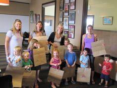 We were so excited to host MOD Moms of Denver for some bag decoration!