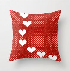 Valentine Throw Pillow cover Red Vibrant Art by LeonLionStudio