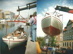 K1054 Karen ankommer fra Bogø til Overgaden oven Vandet 90 på Christianshavn i juli 1996.