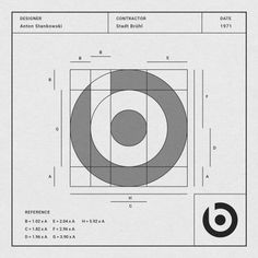 Designer: Anton Stankowski  Contractor: Stadt Bruhl  Date: 1971  Information. This is NOT the beats logo. This logo was created by a German graphic designer named Anton Stankowski. He developed an original Theory of Design and pioneered Constructive Graphic Art.