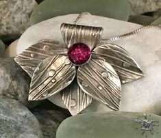 silver leaf pendant for bbsc