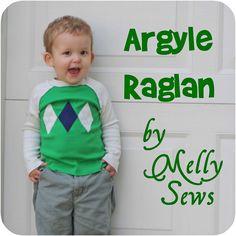 Argyle Raglan Shirt - Sewing for Boys Sew Along - Melly Sews