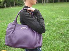 Kate Spade Eggplant Purple Leather Stevie Berkshire Road Satchel