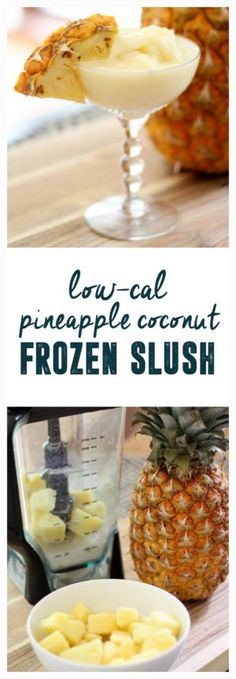 Pineapple Slush, Coconut Pineapple Slush, Dole Whip, Disney Pineapple Drink www.BrightGreenDoor.com