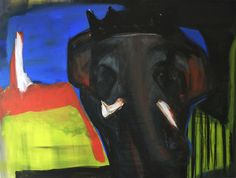 """Painting, """"In the country of elephants"""" Save The Elephants, Saatchi Art, Country, Artist, Painting, Rural Area, Artists, Painting Art, Paintings"""