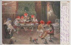 (74239) Künstler AK F. Schenkel: Heinzelmännchen, 1922 0