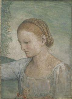 Bernardino Luini - Head of a Girl, 1520 - 1523