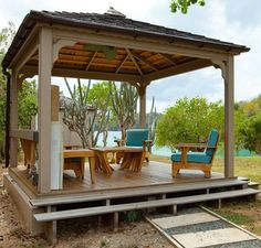 Gazebo is pergola type structure, which can be erected in your lawn. But there is little bit difference in pergola and gazebo as pergola is simple structure… Screened Gazebo, Diy Gazebo, Gazebo Plans, Backyard Gazebo, Pergola Canopy, Garden Gazebo, Cheap Pergola, Gazebo Ideas, Patio Ideas