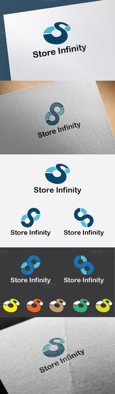 Store Infinity Logo Template. Clothes Icons. $21.00