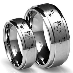Men S Laser Carved Anium Ultimate Deer Hunting Ring Pinterest Weddings And Wedding