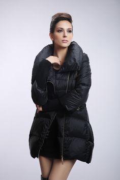 Unusual Plus Size Winter Coats : Plus Size Tab Sleeve Zip Front ...