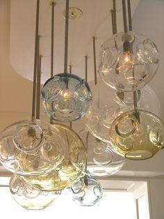 glass blown chandelier
