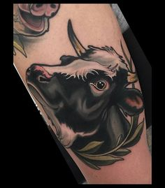 WEBSTA @ brian_povak - Made a cow today. Thanks Chris. @sticksandstonesberlin @tatsoul #envyneedles