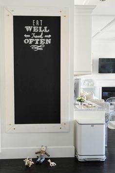 #signs, #chalkboard, #quotes, #diy, #kitchen  Photography: Tracey Ayton - traceyaytonphotography.com  Read More: http://www.stylemepretty.com/living/2014/03/24/the-doctors-closet-home-tour/