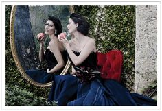 Wicked Queen inspired Bridal Fashion Shoot with a royal blue Tara La Tour wedding dress