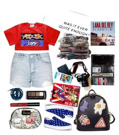 """red, white and blue"" by chintyar ❤ liked on Polyvore featuring Topshop, WithChic, Harrods, Fat Face, Urbanears, Guerlain, redwhiteandblue and july4th"