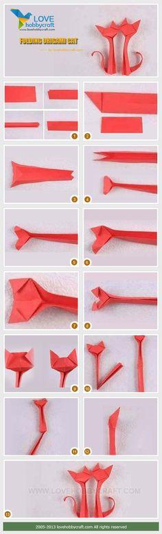 Folding-origami-cat