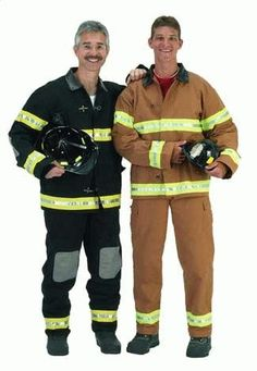 The firefighter costume can vary. We will piece together the traditional firefighter costume for you below with instructions. The traditional firefighter costume is yellow, and a rather thick mater… Funny Costumes, Diy Costumes, Adult Costumes, Costume Ideas, Halloween Costumes To Make, Adult Halloween, Halloween Ideas, Fireman Costume