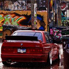 BMW E30 M3 red