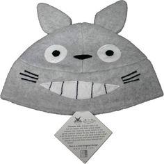 Totoro Grey Plush Beanie - Grey
