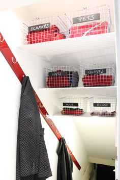 Basement Stairwell Turned Coat Closet - Transforming a Tiny Space into an Effective Storage Solution - Old Town Home
